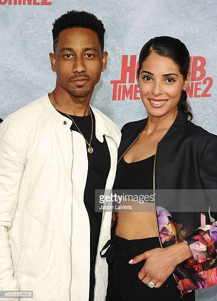 Actor Brandon T Jackson and Denise Xavier attend the premiere of Hot Tub Time Machine 2 at Regency Village Theatre on February 18 2015 in Westwood...