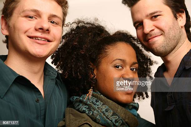 Actor Brandon Thane Wilson actress Keziah Niambi JohnPaul and director David Andalman of the film Takoma Park poses for a portrait at the Amex...
