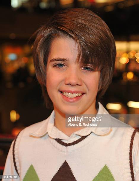 Actor Brandon Tyler Russell arrives at Hollywood Highland Center and One Heartland's Holiday of Hope tree lighting celebration on November 28 2009 in...