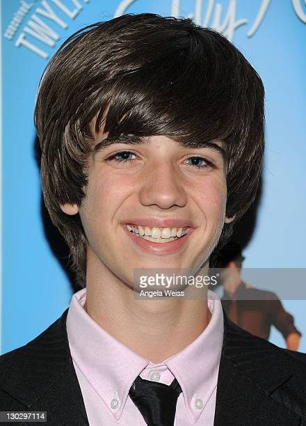Actor Brandon Tyler Russell arrives at LA's Premiere of Twyla TharpFrank Sinatra Musical Come Fly Away at the Pantages Theatre on October 25 2011 in...