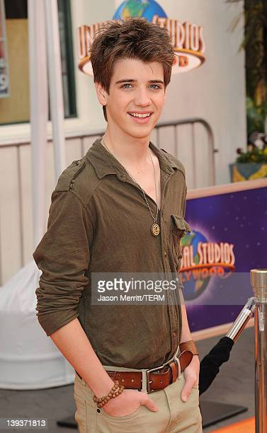 Actor Brandon Tyler Russell arrives at the 'Dr Suess' The Lorax' Los Angeles premiere at Universal Studios Hollywood on February 19 2012 in Universal...