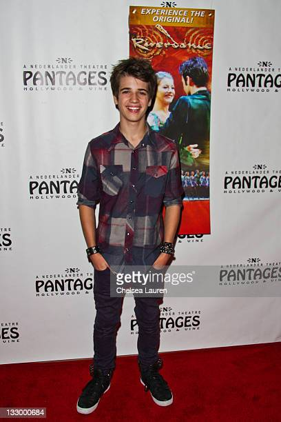 Actor Brandon Tyler Russell arrives at the opening night of Riverdance at the Pantages Theatre on November 15 2011 in Hollywood California