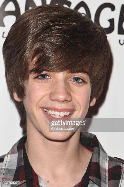 Actor Brandon Tyler Russell arrives at the opening night of Avenue Q at the Pantages Theatre on March 1 2011 in Hollywood California