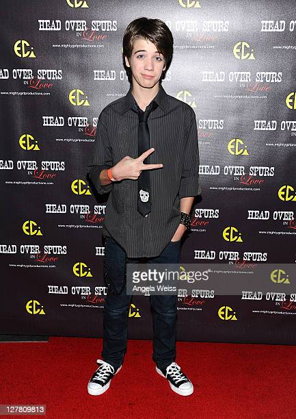 Actor Brandon Tyler Russell arrives at the world premiere of 'Head Over Spurs In Love' at Majestic Crest Theatre on March 24, 2011 in Los Angeles,...