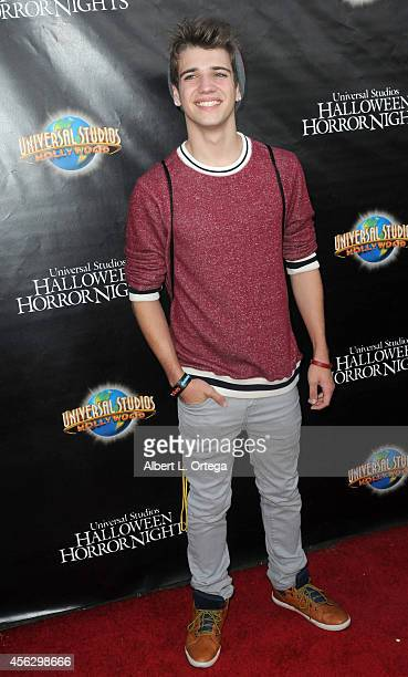 Actor Brandon Tyler Russell arrives for Universal Studios Hollywood Halloween Horror Nights Kick Off With The Annual Eyegore Awards held at Universal...