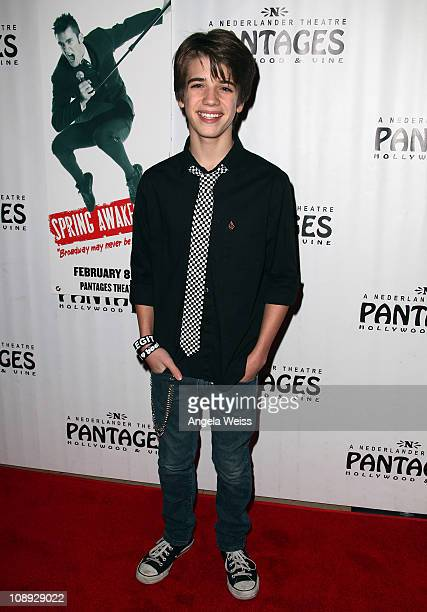 Actor Brandon Tyler Russell arrives to the opening night of 'Spring Awakening' at the Pantages Theatre on February 8 2011 in Hollywood California