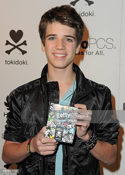 Actor Brandon Tyler Russell attends the launch of the MetroPCS Huawei M835 sanctioned by tokidoki at the tokidoki flagship store on November 3 2011...