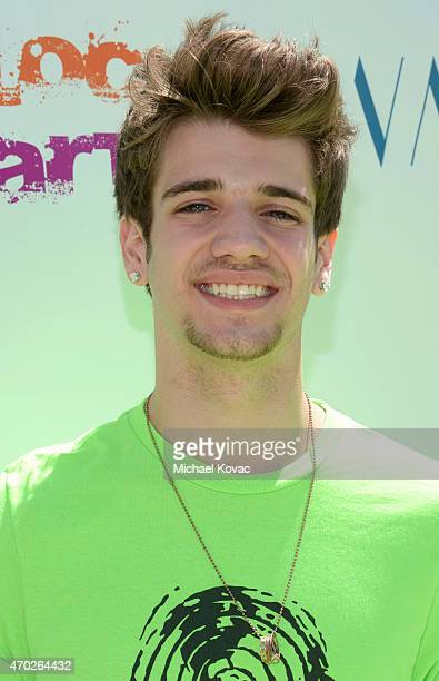 Actor Brandon Tyler Russell attends the Points of Light generationOn Block Party on April 18 2015 in Los Angeles California