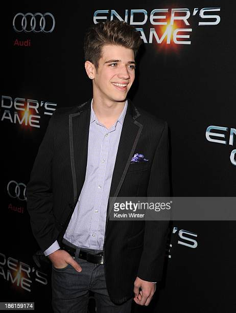 Actor Brandon Tyler Russell attends the Premiere Of Summit Entertainment's Ender's Game at TCL Chinese Theatre on October 28 2013 in Hollywood...