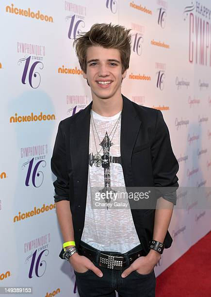 Actor Brandon Tyler Russell attends the Sweet 16th birthday celebration for Cymphonique Miller star of Nickelodeon's 'How to Rock' at Greystone Manor...