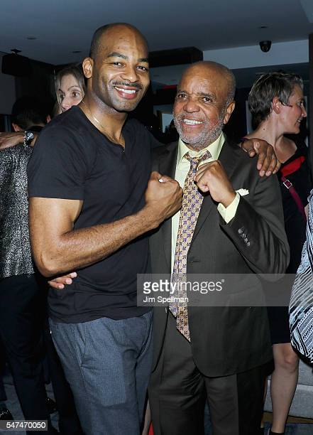 Actor Brandon Victor Dixon and record producer Berry Gordy attend Motown The Musical Returns To Broadway at Nederlander Theatre on July 14 2016 in...