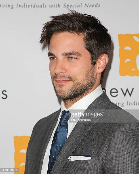 Actor Brant Daugherty attends New Horizons' fundraiser and gala at Los Calamigos Ranch on April 18 2015 in Burbank California