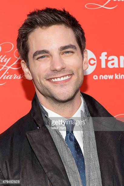 Actor Brant Daugherty attends the Pretty Little Liars season finale screening at the Ziegfeld Theater on March 18 2014 in New York City