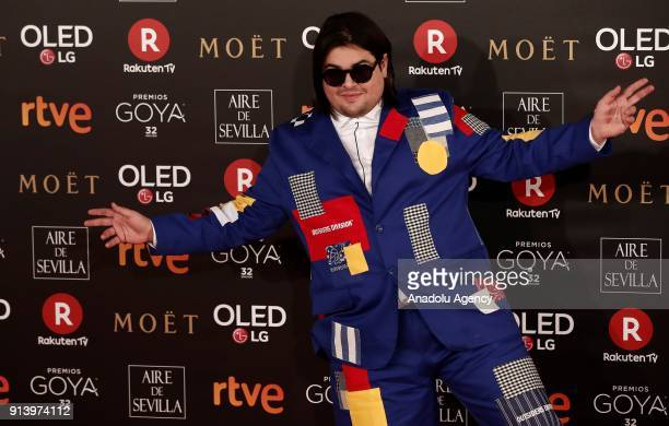 Actor Brays Efe attends the 32th edition of the Goya Awards ceremony in Madrid Spain on February 04 2018