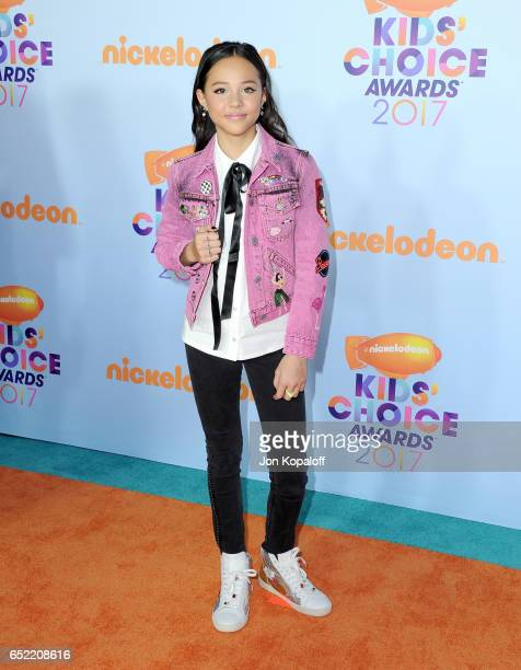 Actor Breanna Yde at Nickelodeon's 2017 Kids' Choice Awards at USC Galen Center on March 11 2017 in Los Angeles California