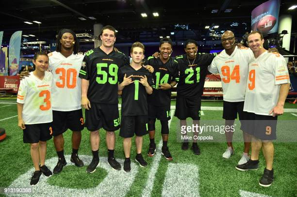 Actor Breanna Yde NFL players Todd Gurley Luke Kuechly actor Ricardo Hurtado NFL player Stefon Diggs former NFL players Deion Sanders and DeMarcus...