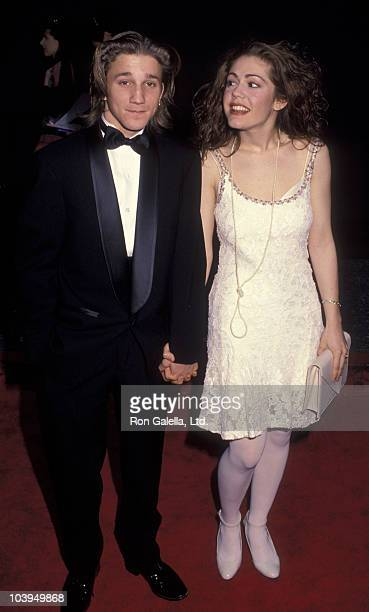 Actor Breckin Meyer and actress Lisa Rieffel attend 18th Annual People's Choice Awards on March 17 1992 at Universal Studios in Universal City...