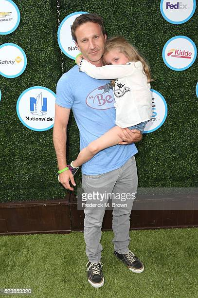 Actor Breckin Meyer and Clover Meyer attend Safe Kids Day at Smashbox Studios on April 24 2016 in Culver City California