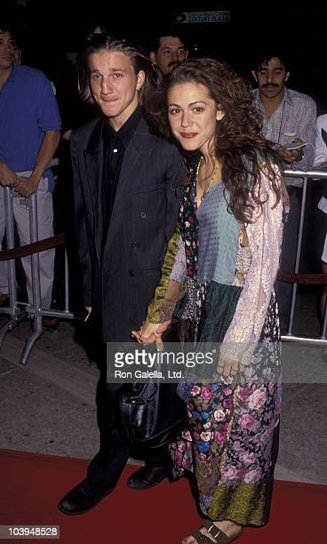 Actor Breckin Meyer and Lisa Rieffel attend the premiere of Alien 3 on May 19 1992 at the Cineplex Odeon Cinema in Century City California