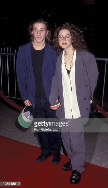 Actor Breckin Meyer and Lisa Rieffel attend the premiere of City Of Joy on April 7 1992 at the Cineplex Odeon Cinema in Century City California