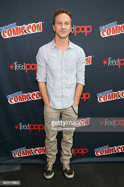 Actor Breckin Meyer attends the Robot Chicken / Neon Joe and Werewolf Hunter Adult Swim Press Hour at New York Comic Con 2015 at the Jacob Javitz...