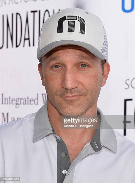 Actor Breckin Meyer attends the Screen Actor's Guild Foundation's 5th Annual 'Actors Fore Actors' Los Angeles Golf Classic at Lakeside Golf Club on...