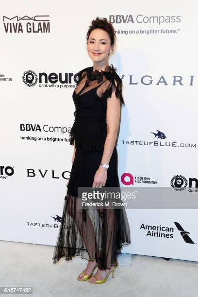 Actor Bree Turner attends the 25th Annual Elton John AIDS Foundation's Academy Awards Viewing Party at The City of West Hollywood Park on February 26...
