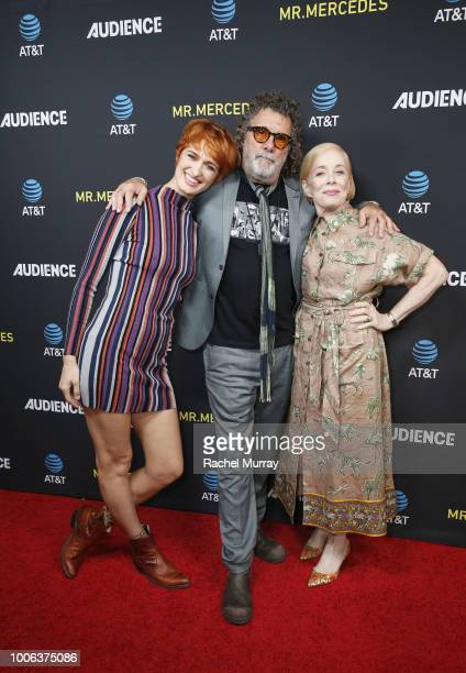 Actor Breeda Wool Director and Executive Producer Jack Bender and actor Holland Taylor arrive for the ATT AUDIENCE Network's 'Mr Mercedes' panel...