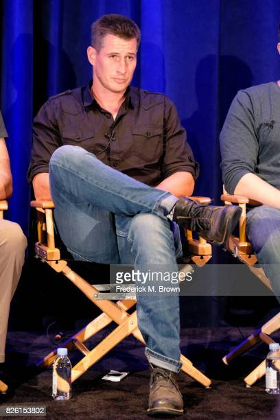 Actor Brendan Fehr of 'The Night Shift' speaks onstage during the NBCUniversal portion of the 2017 Summer Television Critics Association Press Tour...