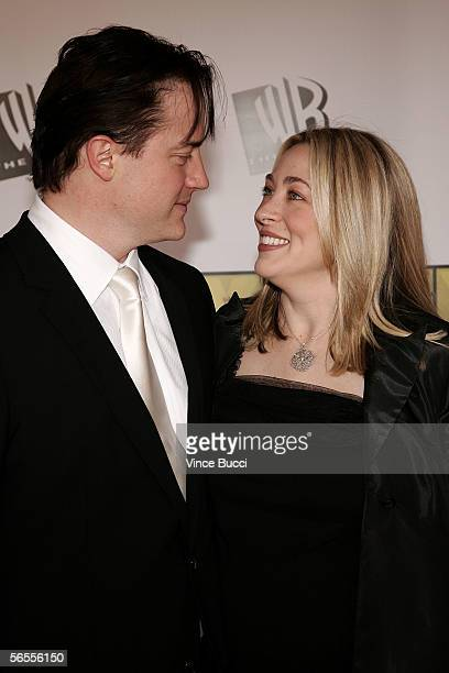 Actor Brendan Fraser and wife Afton Smith arrive at the 11th Annual Critics' Choice Awards held at the Santa Monica Civic Auditorium on January 9,...