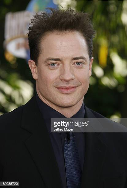 Actor Brendan Fraser arrives at the American Premiere of 'The Mummy Tomb Of The Dragon Emperor at the Gibson Amphitheatre on July 27 2008 in...