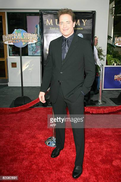 Actor Brendan Fraser arrives for the premiere of 'The Mummy Tomb of the Dragon Emperor' in Studio City on July 27 2008 AFP PHOTO / VALERIE MACON