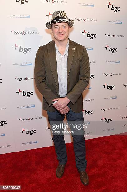 Actor Brendan Fraser attends Annual Charity Day hosted by Cantor Fitzgerald BGC and GFI at BGC Partners INC on September 12 2016 in New York City