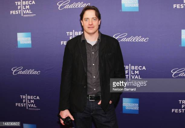 Actor Brendan Fraser attends the Whole Lotta Sole Premiere the 2012 Tribeca Film Festival at the School of Visual Arts on April 21 2012 in New York...