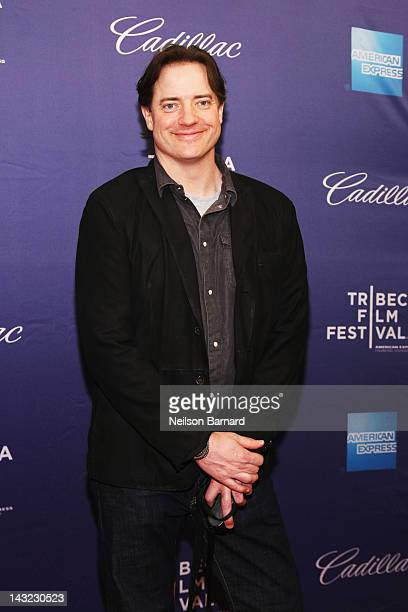 Actor Brendan Fraser attends the 'Whole Lotta Sole' Premiere the 2012 Tribeca Film Festival at the School of Visual Arts on April 21 2012 in New York...