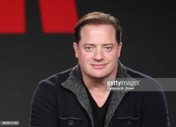 Actor Brendan Fraser of the television show Condor speaks onstage during the ATT Audience Network portion of the 2018 Winter Television Critics...