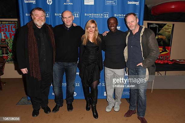Actor Brendan Gleeson director John Michael McDonagh actors Katarina Cas Don Cheadle and Liam Cunningham attend 'The Guard' Premiere during the 2011...