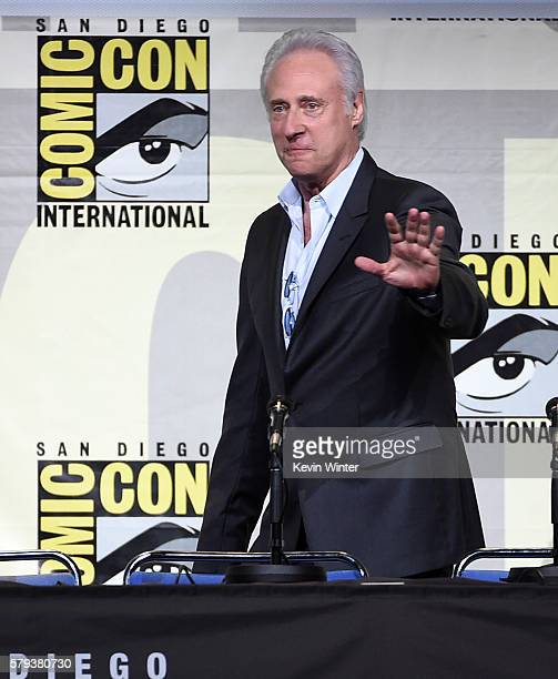 Actor Brent Spiner attends the 'Star Trek' panel during ComicCon International 2016 at San Diego Convention Center on July 23 2016 in San Diego...