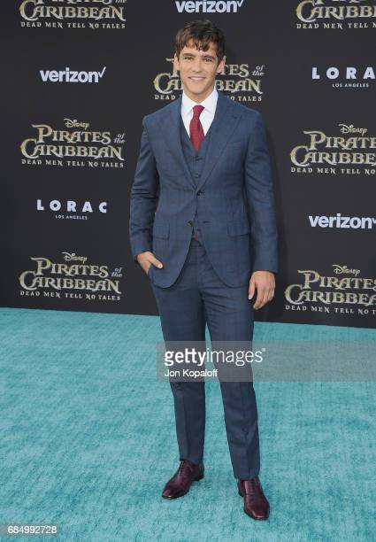 Actor Brenton Thwaites arrives at the Los Angeles Premiere Pirates Of The Caribbean Dead Men Tell No Tales at Dolby Theatre on May 18 2017 in...
