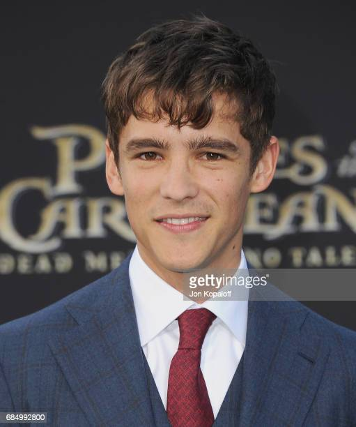 Actor Brenton Thwaites arrives at the Los Angeles Premiere 'Pirates Of The Caribbean Dead Men Tell No Tales' at Dolby Theatre on May 18 2017 in...