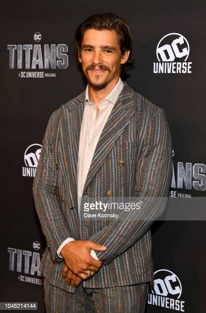 Actor Brenton Thwaites attends DC UNIVERSE's Titans World Premiere on October 3 2018 in New York City