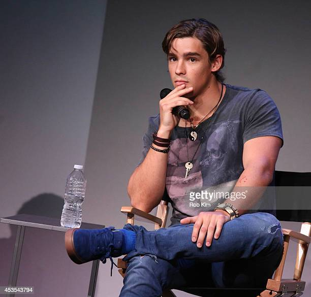 Actor Brenton Thwaites attends 'Meet The Filmmakers' at Apple Store Soho on August 12 2014 in New York City