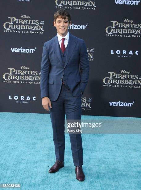 Actor Brenton Thwaites attends premiere of Disney's 'Pirates Of The Caribbean Dead Men Tell No Tales' at Dolby Theatre on May 18 2017 in Hollywood...