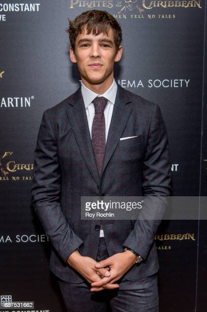 Actor Brenton Thwaites attends The Cinema Society host a screening of Pirates Of The Caribbean Dead Men Tell No Tales at Crosby Street Hotel on May...