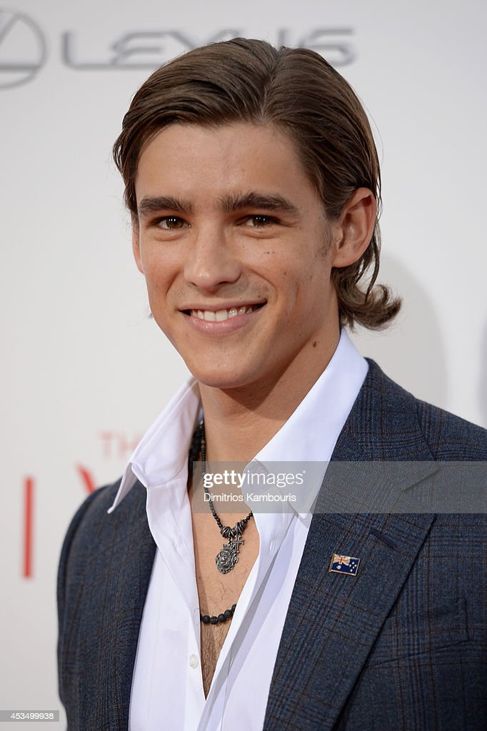 Actor Brenton Thwaites attends 'The Giver' premiere at Ziegfeld Theater on August 11, 2014 in New York City.