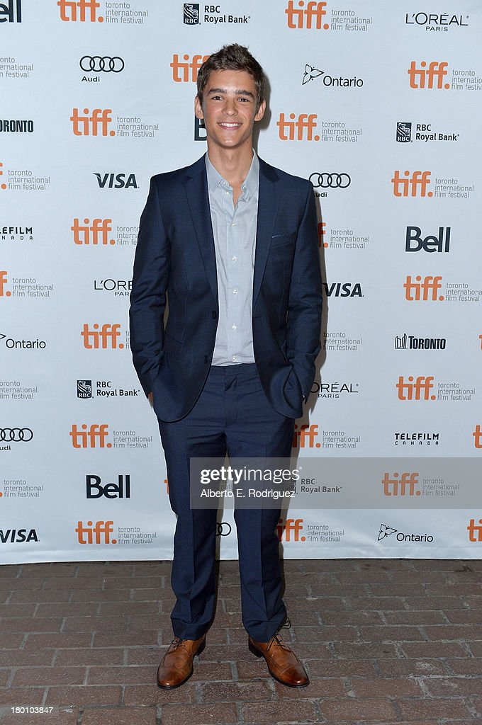 Actor Brenton Thwaites attends the 'Oculus' premiere during the 2013 Toronto International Film Festival at Ryerson Theatre on September 8, 2013 in Toronto, Canada.