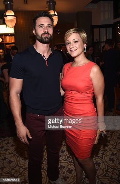 Actor Brett Dalton and Melissa Trn at the MEN'S FITNESS 2014 GAME CHANGERS event at Palihouse on September 17 2014 in West Hollywood California