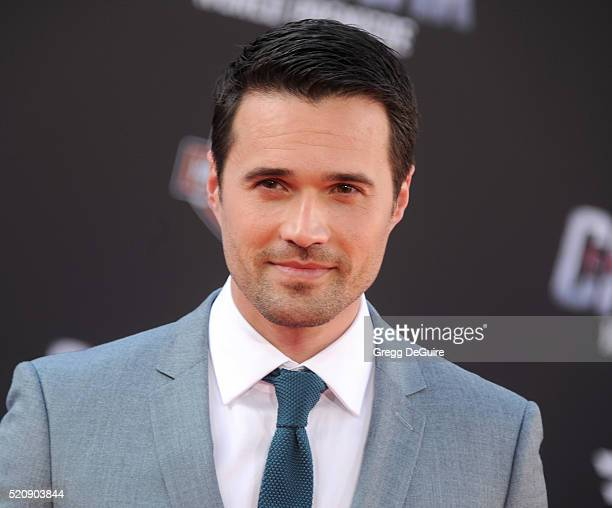 Actor Brett Dalton arrives at the premiere of Marvel's 'Captain America Civil War' on April 12 2016 in Hollywood California
