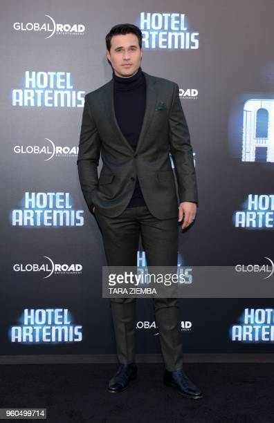 Actor Brett Dalton attends the Los Angeles premiere of 'Hotel Artemis' on May 19, 2018 in Westwood Village, California.