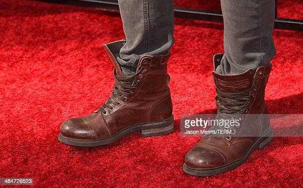 Actor Brett Davern attends the 2014 MTV Movie Awards at Nokia Theatre LA Live on April 13 2014 in Los Angeles California